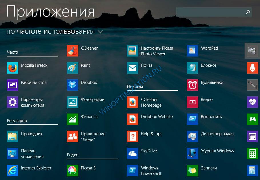 Настройка интерфейса Windows 8.1