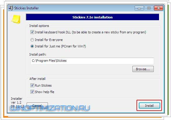 Бесплатная программа Stickies или расширенные функции блокнота Windows