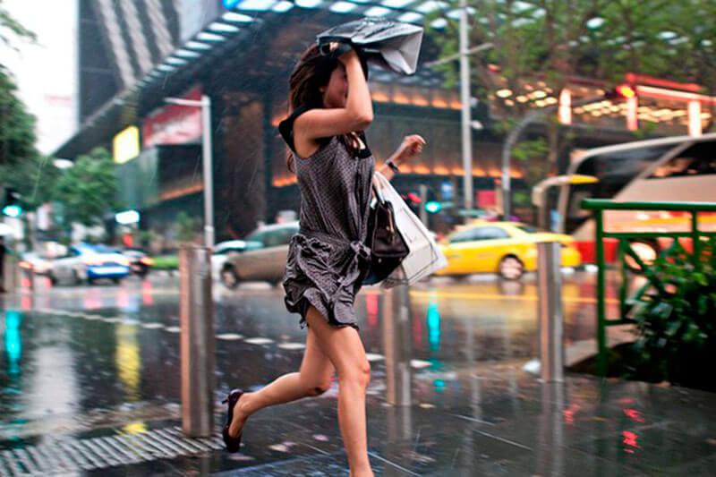 Съемка людей в дождь